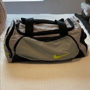 Nike gray duffel bag